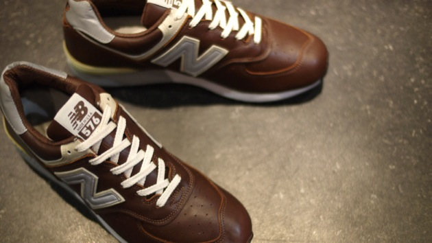 New Balance Cuir Marron Homme