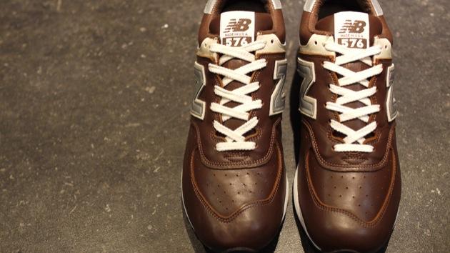 new balance cuir marron