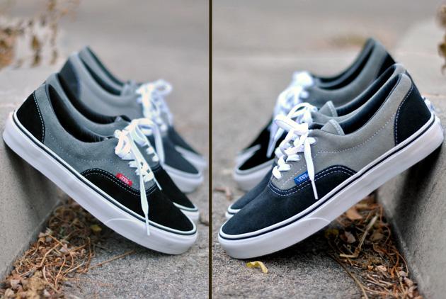 vans noir gris