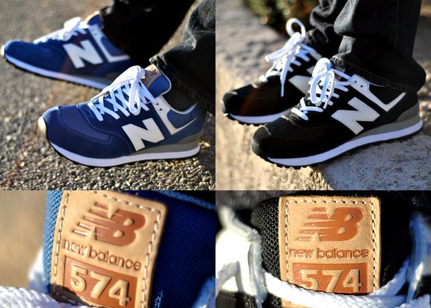 new balance 574 bleu cuir
