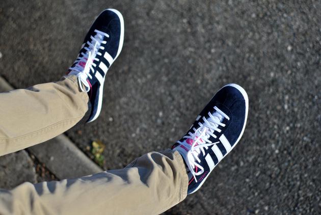 Adidas Gazelle Og Bleu Marine Rose Sneakers
