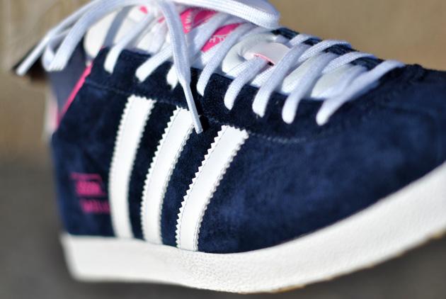 Adidas Gazelle Femme Bleu Et Rose