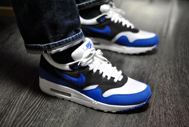 air max 1 noir et bleu