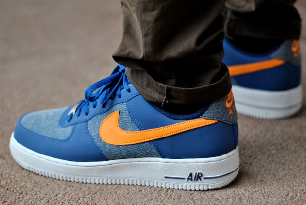 nike air force 1 bleu orange