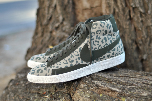 nike blazer leopard noir