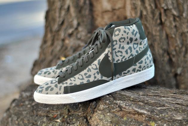 nike leopard blazers