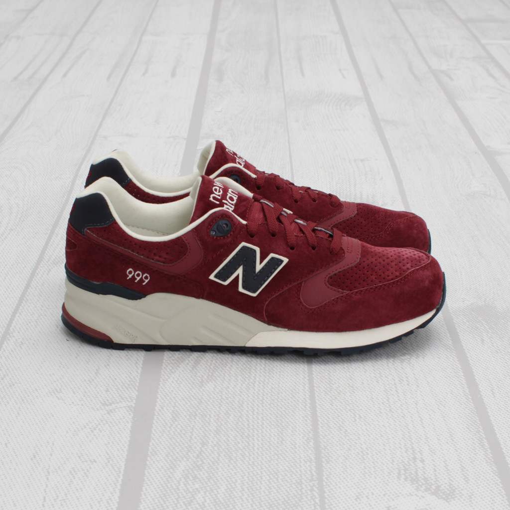 new balance 999 maroon navy sneakers. Black Bedroom Furniture Sets. Home Design Ideas