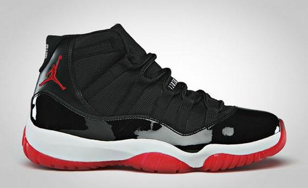 ... air jordan 11 noir rouge