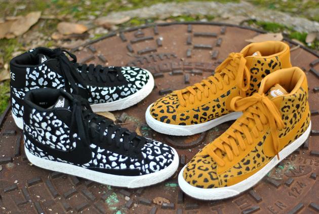 nike blazer leopard jaune