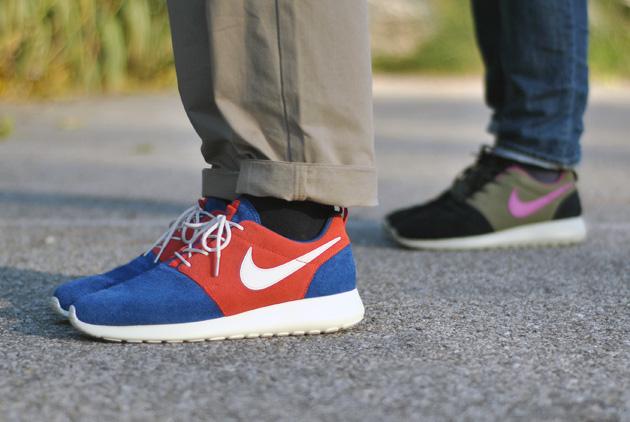 roshe run bleu et rouge