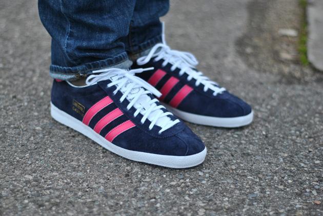 adidas gazelle homme bleu rose