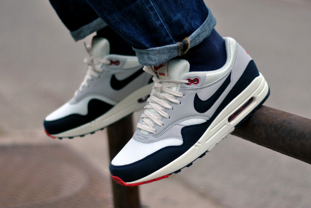Nike Air Max 1 Bleu Blanc Rouge