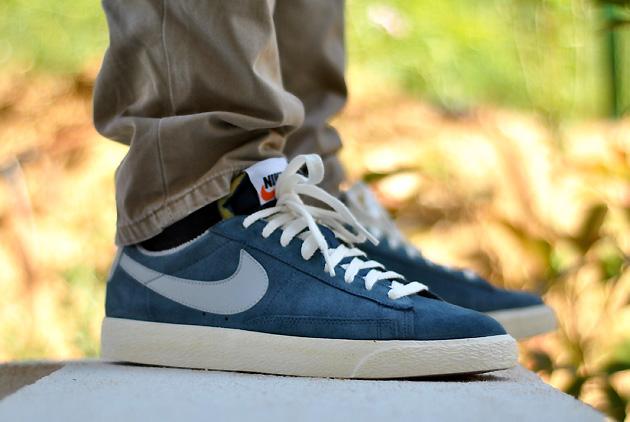 Nike Bleu Basse
