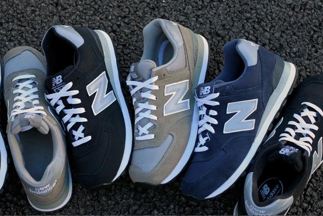 New Balance 574 Bleu Et Noir