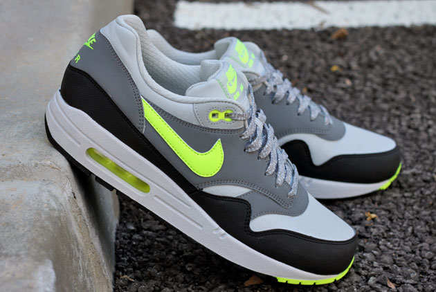 air max 1 grise et verte