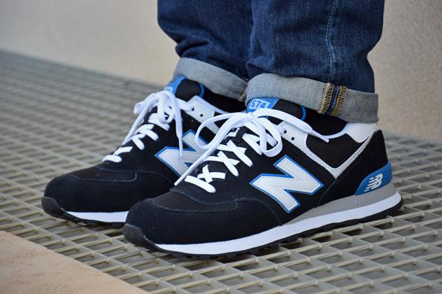 New Balance 574 Noir Et Jaune