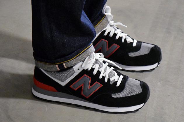 new balance noir grise rouge