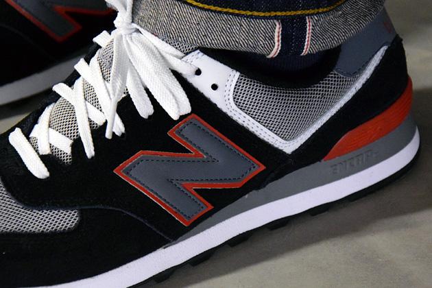 New Balance 574 Noir Et Rouge
