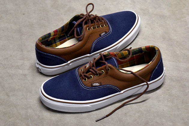 vans era bleu marron