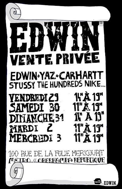 Edwin vans vente priv e - Vente privee retour article ...