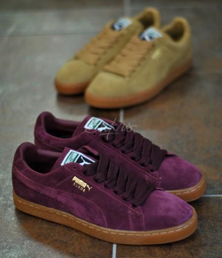 prix d'usine 64376 e92d8 Puma Suede Beige & Bordeaux - semelle gum - Sneakers.fr