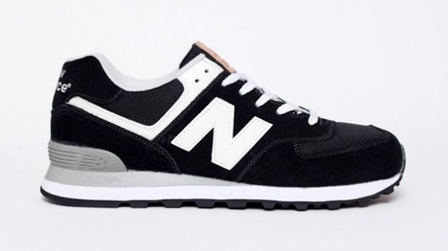 new balance 574 leather patch pack sneakers. Black Bedroom Furniture Sets. Home Design Ideas