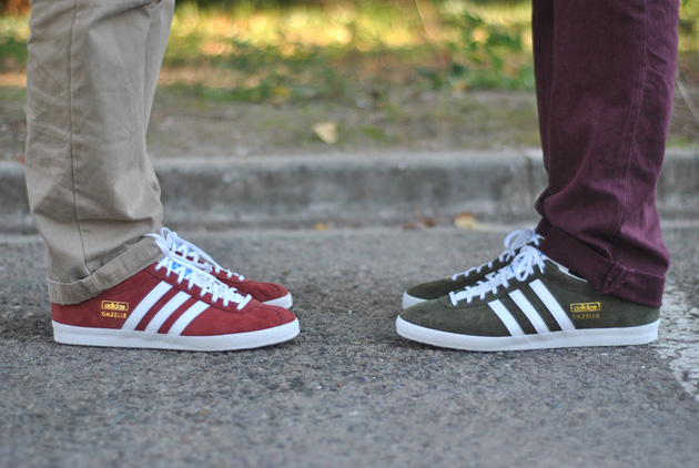 adidas Gazelle – Rouge & Khaki