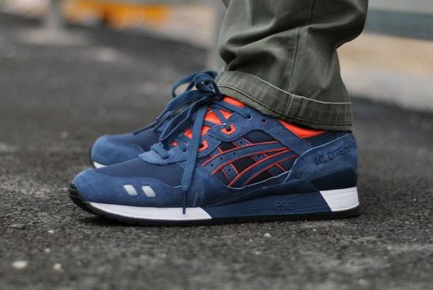 nouveau style 5fc35 3a9e3 Asics Gel Lyte III Bleu/Orange - Disponible - Sneakers.fr