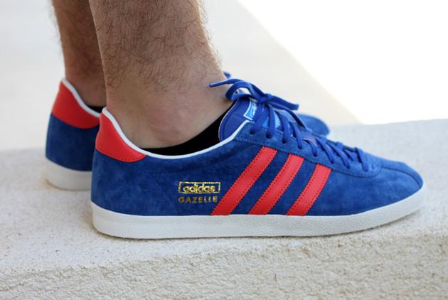 adidas Gazelle OG Bleu Rouge - Disponible - Sneakers.fr