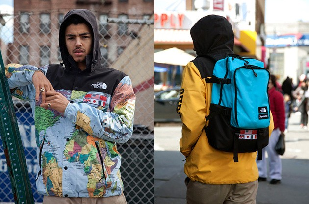 a1093e4af3 ... déclinaison a été appliqué sur un sac à dos, le Expedition Medium Day  Pack Backpack. Cette collection Supreme x The North Face sortira le 19  avril 2014.