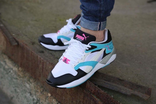 puma trinomic bleu rose
