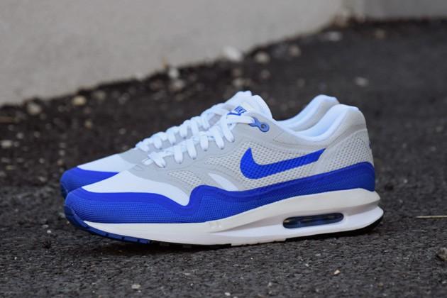 air max 1 blanche bleu