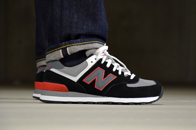 new balance 574 gris bleu rouge