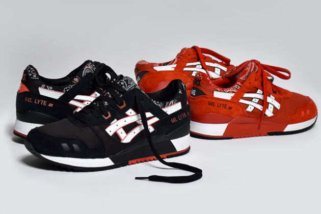 asics gel lyte 3 noir rouge marguerite. Black Bedroom Furniture Sets. Home Design Ideas