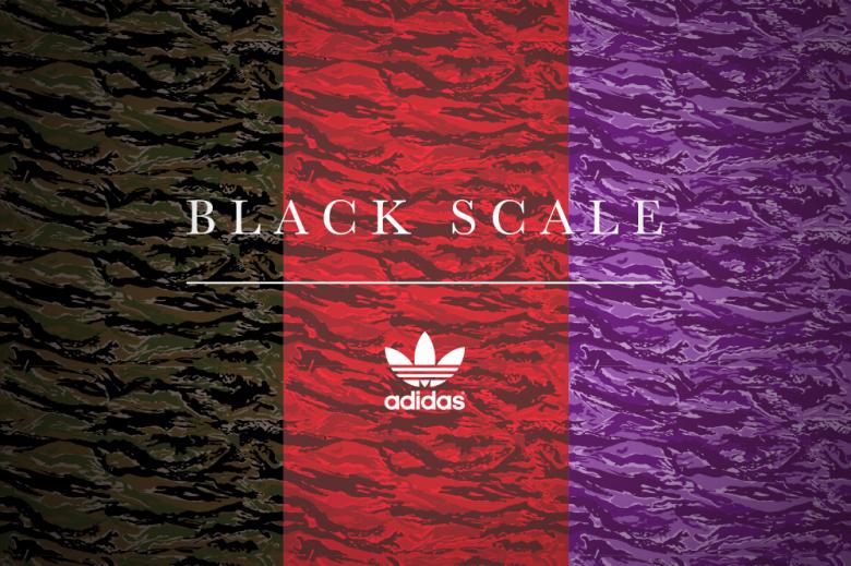 adidas black scale