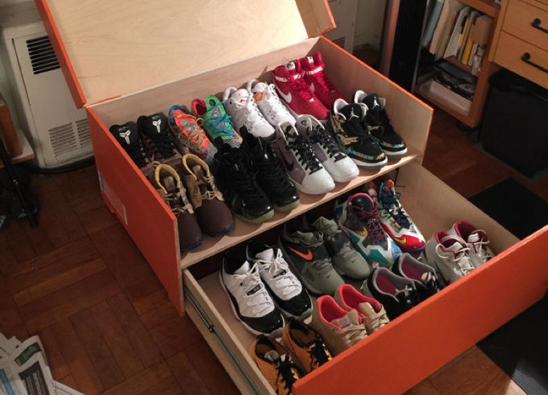 rangement chaussure boite nike