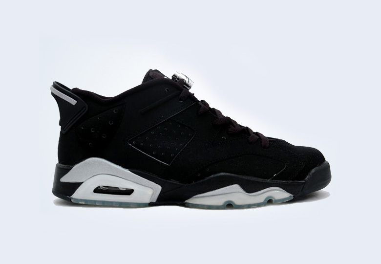 air jordan 6 low black silver