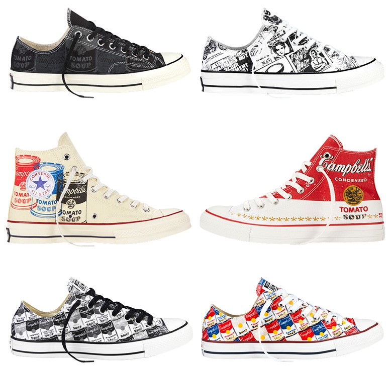 converse femme andy warhol