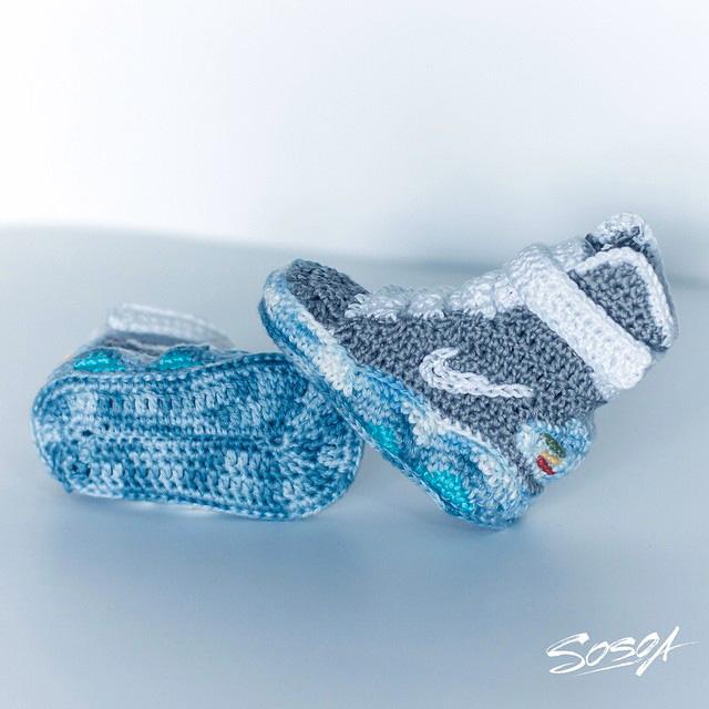 bébé nike et chaussures converse crochet Akileos