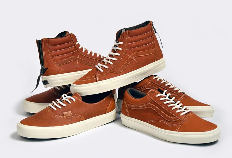 vans marron cuir