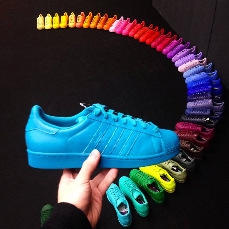 adidas x pharrell williams superstar rainbow pack. Black Bedroom Furniture Sets. Home Design Ideas