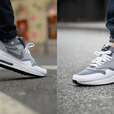 nike air max 1 white grey