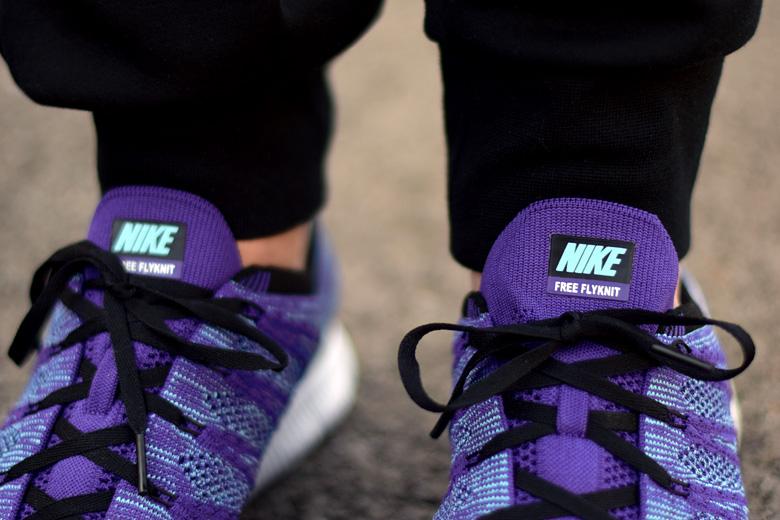 nike free flyknit nsw purple