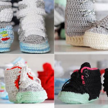 sneakers baby crochet