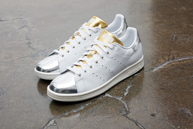 stan smith argent metallic