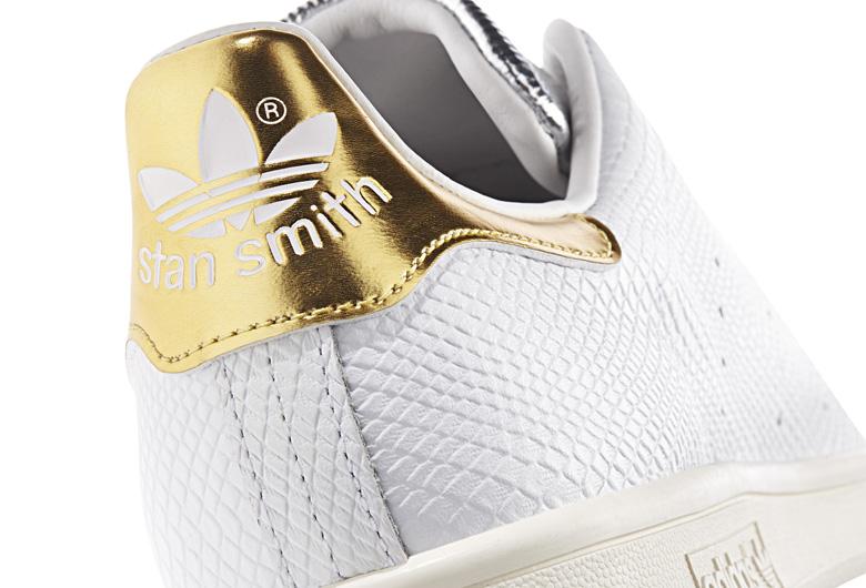 stan smith croco gold
