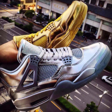 air jordan 4 liquid metal