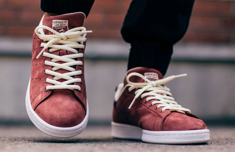 Adidas Stan Smith Velour Bordeau