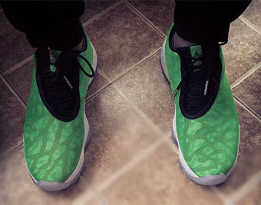 newest fa5c4 8b908 Jordan Future Low Green Pulse
