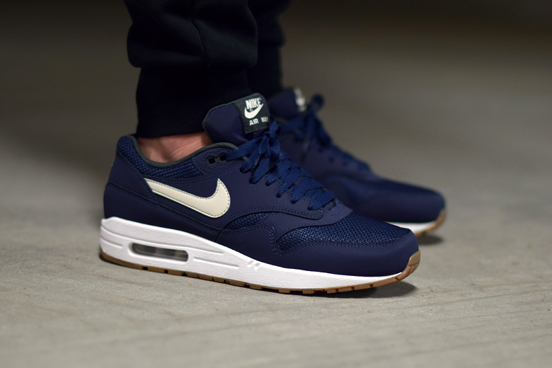 nike air max 1 navy gum sneakers. Black Bedroom Furniture Sets. Home Design Ideas